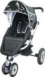Steelcraft Mach Stroller in Black